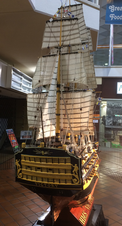 Image of ship stern in Boronia Mall